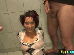Pee soaked hookers fuck