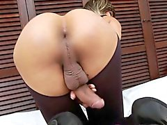 Knockers tgirl jizz dripping