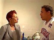 German aunt & lover - Tante fickt Freund
