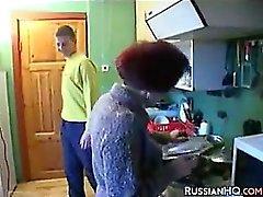 Eccitato nonna russa