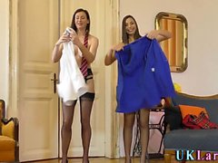 Brit milf and les nurse