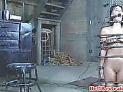 Sub slut caned before hardcore restrain