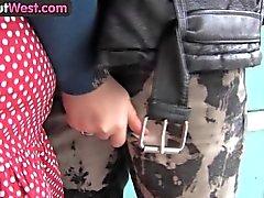 Girls Out West - Amateur punk couple