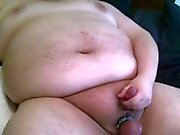 fat man still horny, needs to cum one more time