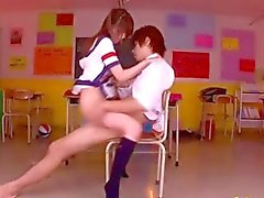 Hot school girl fucked well by a school guy