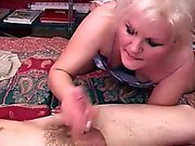 Mature blonde cougar gets nailed