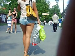 Ukrainian girl in minishorts