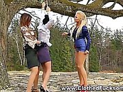 Fetish clothed lesbos eat pussy