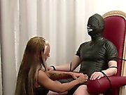 German Amateur Teen Femdom in Hot Lingerie Older Man