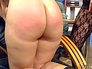 Naked Jesika Gold gets smothered and spanked by Katy Parker