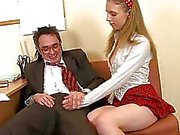 Gal is delighting old tutors hard male rod