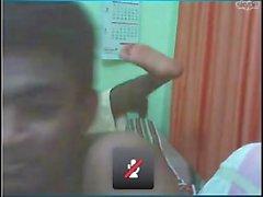 Ebin Francis Kurishal & sein Freund, der Spaß auf cam hat