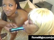 Imani Rose & Angel Star Get Drilled Hard by BBC in 3 Way!