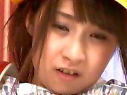 Asian Schoolgirl Fingering Herself before a dicking