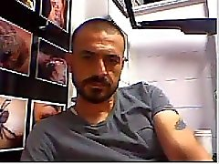 Geraden Typen Beinen auf Webcam zu # ein