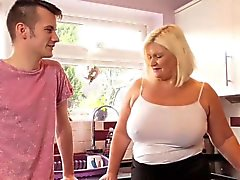 BBW Mature fucks with a boy that was lost