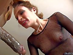 Petite Amber Rayne gets her throat fucked by Prince Yahshua