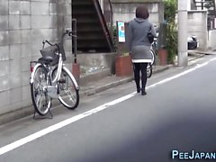 Asians watched peeing