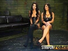 Big boobs slut tied to a sybian