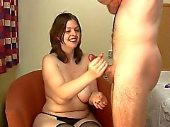 chubby hooker handjob gets a surprise
