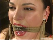 Dana DeArmond gets ehr pussy tortured in bondage