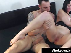 Big franska Dick Alex Legend Fucks Hot Brunette Sovereign Syr