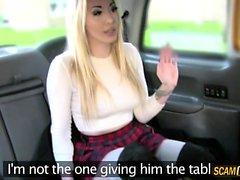 Damn blonde slut wants the drivers cock