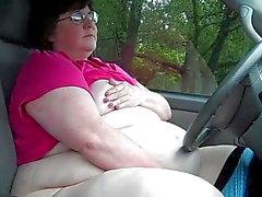 SSBBW Slut Masturbates in Public