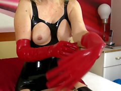 Masturbation au latex