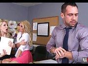 Office Threesome Fun Aaliyah Love, Ashley Fires