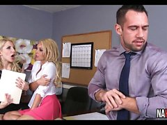 Office Threesome Fun Aaliyah Love, Ashley Fires
