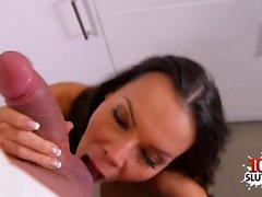 Latin pornstar hardcore fuck with cumshot