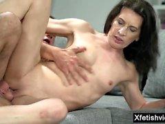Small tits pornstar fetish and cumshot