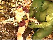 3D-Elf-Prinzessin durch einen Oger Zerstört!