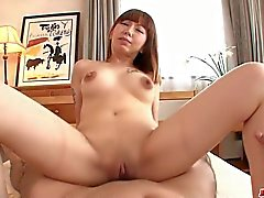 Minami Kitagawas shaved asian creampie in POV