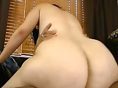 Femme forte Fat Ass Interracial