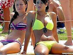 Strand Tonåring bikini Voyeur Särskilda funktioner HD