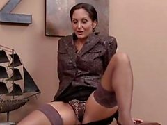 Slut Ava Addams plays with her soaking wet piss flaps