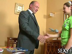 Amoral doggystyle pounding from horny mature teacher