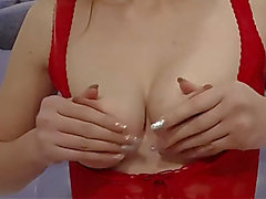 Golden-Haired russian playing with her nose engulfing vibrator rubbing snatch