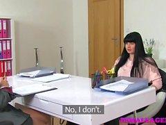 FemaleAgent Busty beauty wants lesbian work