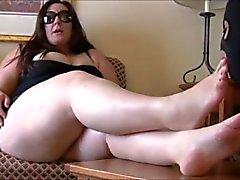 BBW metrin , jalka rakastajatar Slave