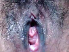 Hairy Ebenholz Hure Reiten monströsen schwarzen Boner