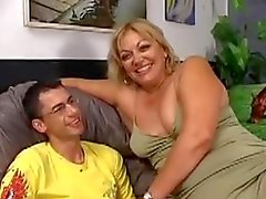 Hairy Chubby Milf Gets Fucked By A Younger Guy