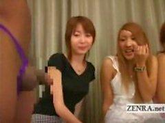 Sottotitolate dilettanti giapponesi CFNM nera parti lingerie