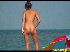 Sexy spiaggia Nudista Nudo Coppie Voyeured Spycam