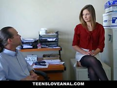TeensLoveAnal - Lovely Secretary Ass Fucked By her Boss