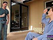 Курение горячим заклепки Derrick и Майкла имеющие открытом воздухе половые контакты