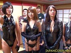 Japanische lederne Damen Schwanz Ruckeln