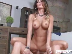 Pretty Step Mom Jessica Jaymes loves big boy